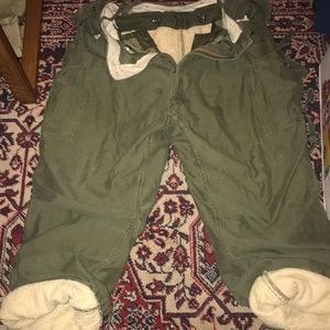 Large RARE Very Heavy polar military lined pants